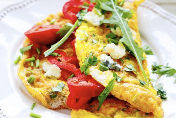 Un delicioso omelette es una excelente opción, además es un desayuno más...