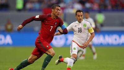 Cristiano Ronaldo ante México en la Copa Confederaciones.