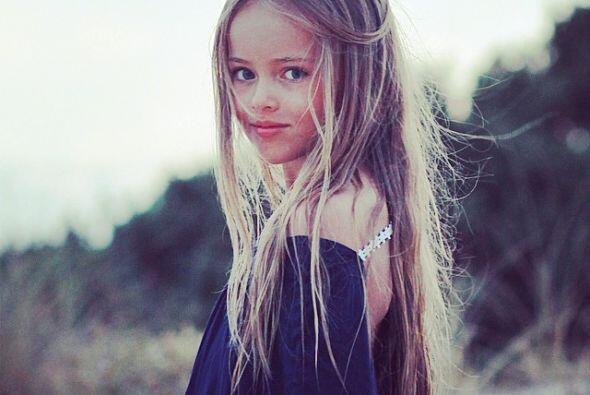 Era lógico que la pequeña estuviera involucrada en el mundo de la moda,...