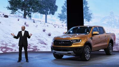 Raj Nair presenta la nueva Ford Ranger 2019 en un evento privado dentro...