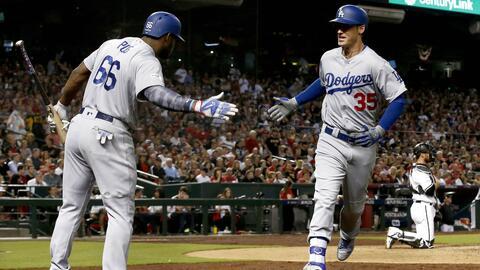 Cody Bellinger fue la pieza clave a la ofensiva de los Dodgers.