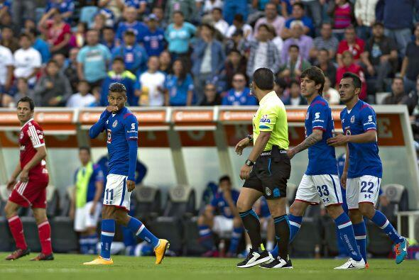 En el aspecto disciplinario el Cruz Azul no podrá contar con Joao Rojas,...