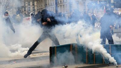 Esto es lo que pasó durante las protestas en París