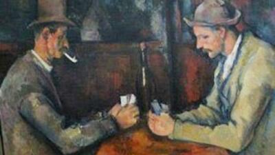 Se cree que Paul Cézanne pintó este cuadro en 1890.
