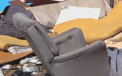 Un improvisado basurero: en eso se convirtió el sur del condado de Dallas