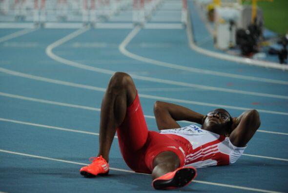 En Beijing 2008 se coronó en esta prueba, pero tampoco pudo defender su...