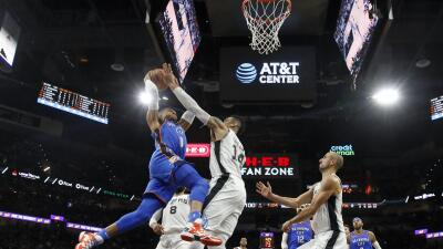 Spurs y Thunder estarán en los playoffs de la NBA 2018.