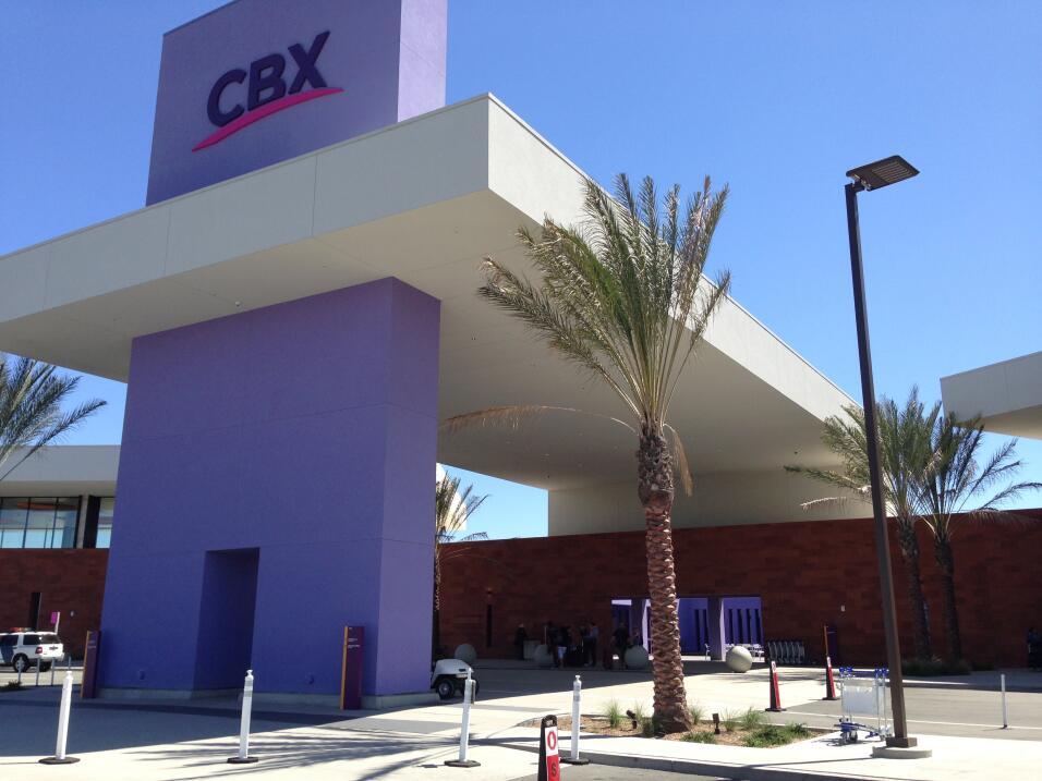 Entrada del CBX en Otay Mesa.
