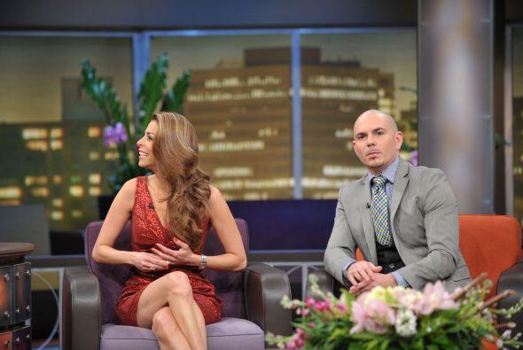 Pitbull y Lourdes comparten sus vivencias con el Don.