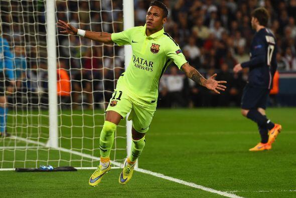 Neymar aprovechó un error defensivo para penetrar el área y vencer a Sig...