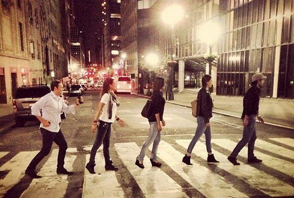 """#NYC #Friends #Beatles?"", mostró Ana. (Mayo 11, 2014)"