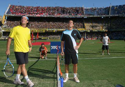 Ambos tenistas estaban impactados del ambiente en las tribunas. (ATP)
