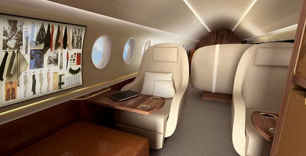 El G650 de Gulfstream que pertenece a Ralph Lauren tiene una capacidad d...
