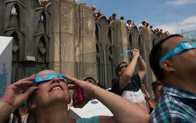 Eclipse solar 2017, un fenómeno que disfrutaron millones de neoyorquinos