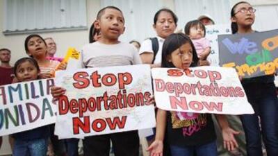 Un grupo de niños de padres deportados pide al gobierno del Presidente B...