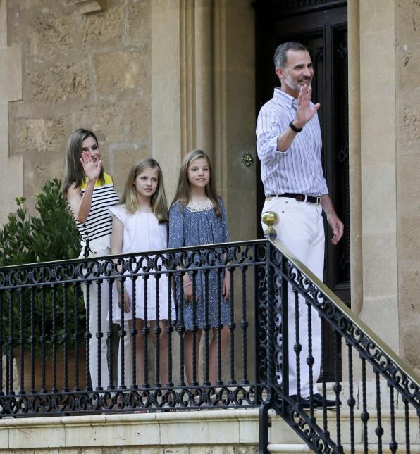 Los reyes de España de vacaciones