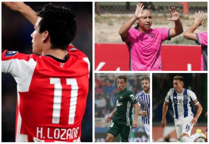 El 'Chucky' Lozano marcó el paso de los mexicanos en el fútbol exterior...