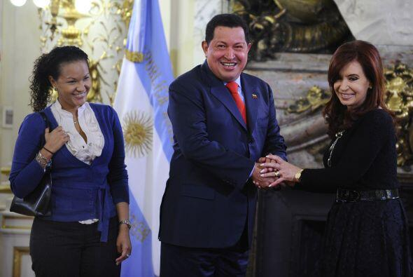 El presidente de Venezuela, Hugo Chávez llegó a Argentina y se reunió co...