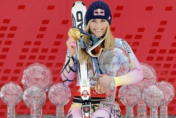 Campeona olímpica de descenso y bronce en el 'súper' de Vancouver 2010.