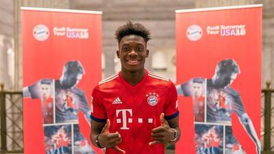 """""""Estoy viviendo un sueño"""", expresó el joven Alphonso Davies tras su debut con Bayern Munich"""