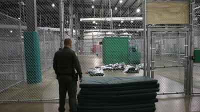 Centro de detención de la Patrulla Fronteriza en el sur de Texas.