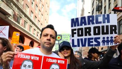 Famosos que salieron a las calles y apoyaron el 'March for Our Lives'