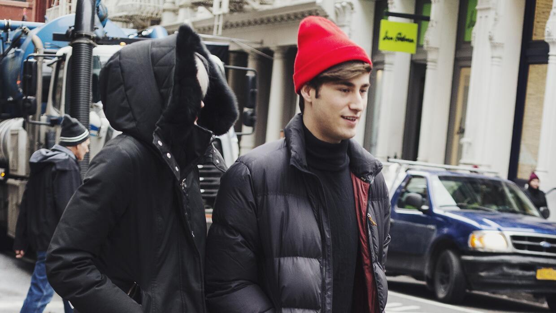 La chaqueta de plumas es el uniforme del invierno.