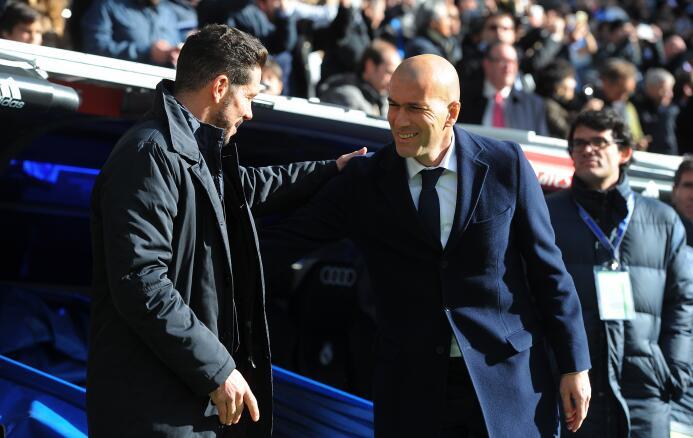 Más de un mes tardó la primera derrota de Zinedine Zidane al frente del...
