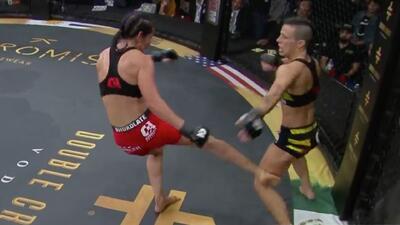 Tras brutal patada en la rodilla, la mexicana Yajaira Romo derrotó a la española Vanesa Rico