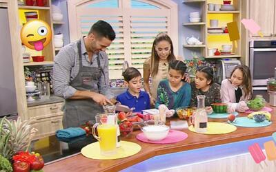 Las hijas de Karla aprendieron a preparar unas deliciosas paletas de fru...