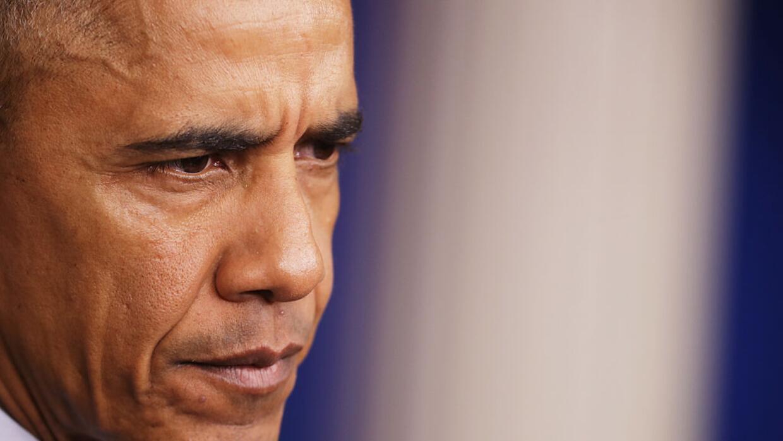 El president Barack Obama habla en su primera conferencia de prensa en l...