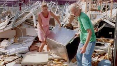 Los destrozos del huracánAndrew en 1992.