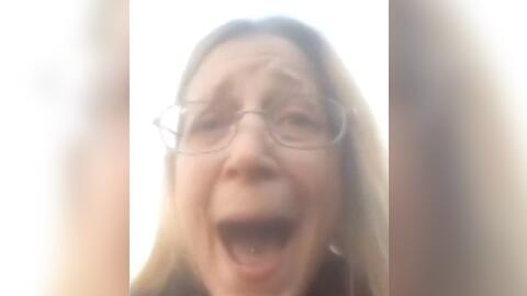Un momento del Facebook Live que sirvió para identificar a Sandra...