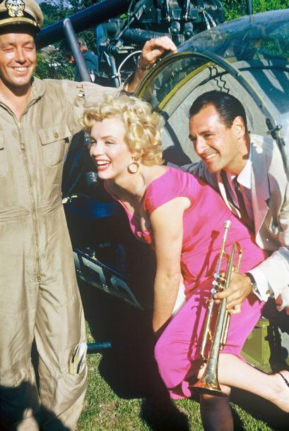 Mostraban a Marilyn feliz en una fiesta.