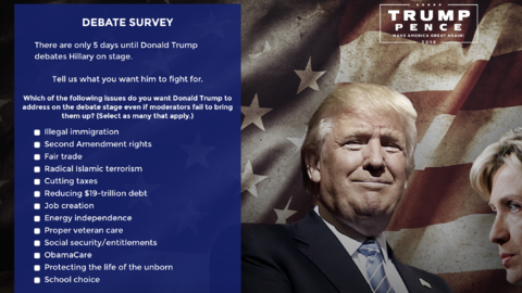 Trump encuesta a sus seguidores sobre qué temas quieren que trate en el...