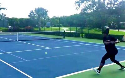 Serena Williams no puede dejar de jugar al tenis ni con seis meses de em...