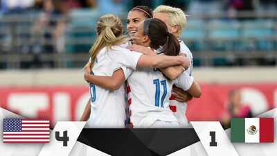 Tres goles en tres minutos y el Team USA golea a México en amistoso femenino