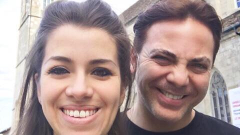 Cristian Castro y su tercera esposa, Carol Victoria.