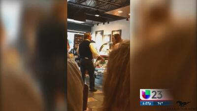 Captan un altercado en un Starbucks provocado por el resultado de la ele...