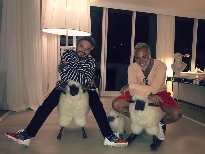 J Balvin y Gianluca Vacchi.