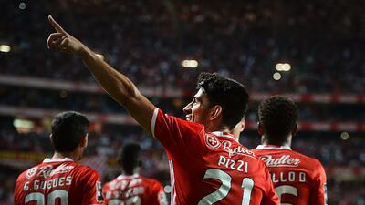 Benfica superó a Sporting Braga y es nuevo líder en Portugal