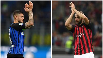 ¡Duelo de goleadores! Icardi e Higuaín, los hombres gol en el Derby della Madonnina
