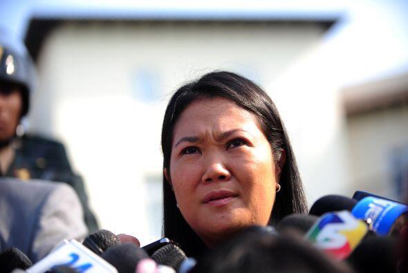 La candidata presidencial Keiko Fujimori encabeza los sondeos de prefere...