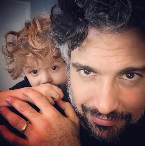 Jaime Camil y su hijo