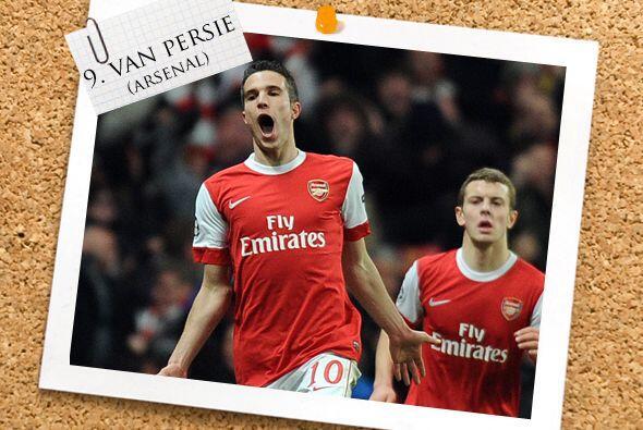 Ya en el ataque, la última cara de Arsenal que tenemos es Robin van Persie.