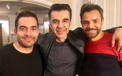 Adrián Uribe y Eugenio Derbez en Los Angeles.