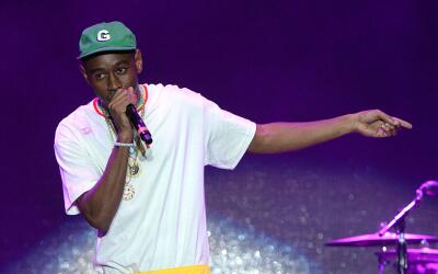 Rapper Tyler, The Creator performs on stage at the 2016 Camp Flog Gnaw C...