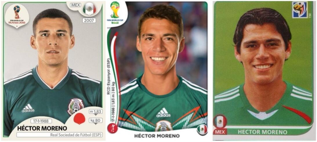 Héctor Moreno - Rusia 2018 / Brasil 2014 / Sudáfrica 2010