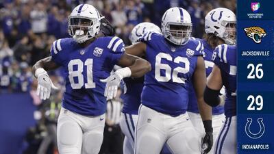 Los Jaguars siguen en caída libre: pierden ante los Colts su quinto al hilo