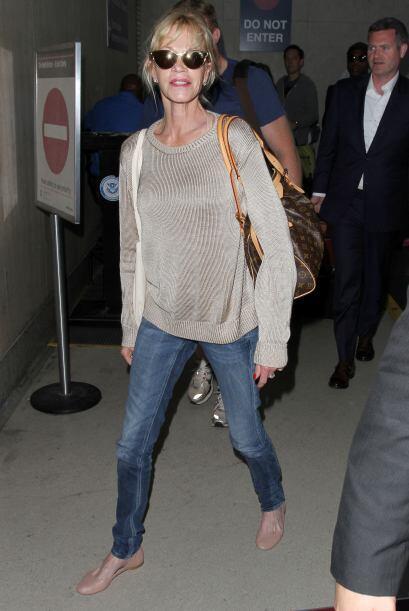 No nos preocupa el 'outfit' de Melanie Griffith, ¡pero sí verla demasiad...